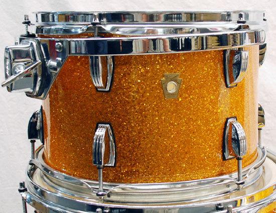 Ludwig Legacy Classic Shellset Gold Glass Glitter