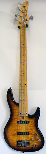 Mike Lull BBM5 Bryan Beller Bass 2-Tone-Sunburst