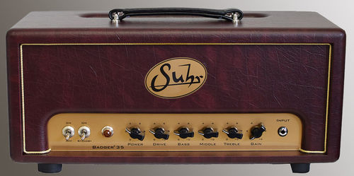 Suhr Badger 35 Burgundy Wine Amp Head