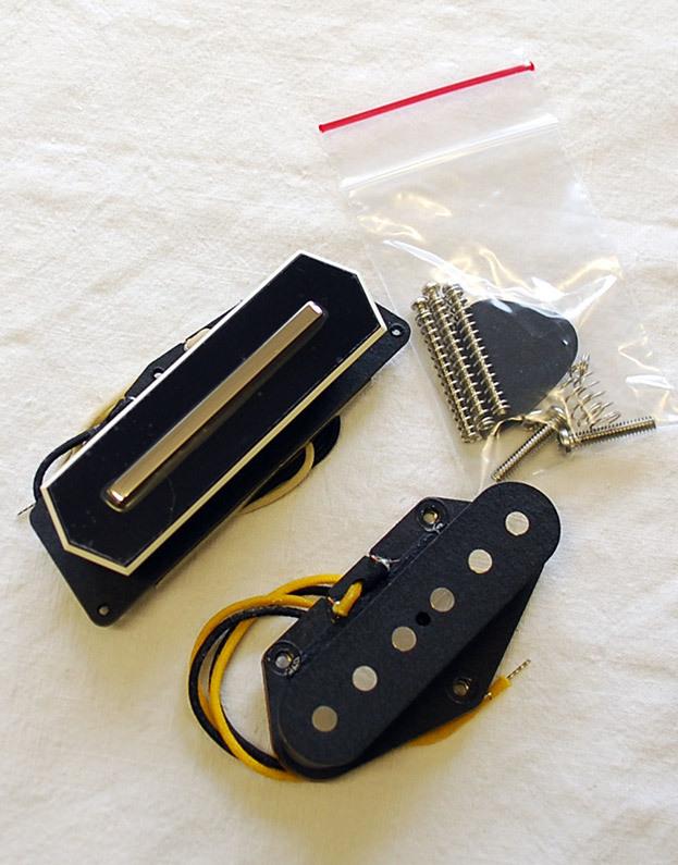 lollar tele charlie christian set black pickguard mount Two Single Coil Guitar Wiring Diagram Single Coil Pickup Wiring Diagram