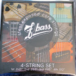 F Bass 4-String Set Stainless Steel 43/102
