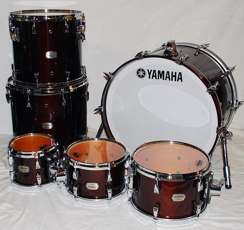 yamaha absolute maple hybrid drumset walnut station music