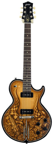 Collings 290 Solidbody Custom Hot Rod Graphics
