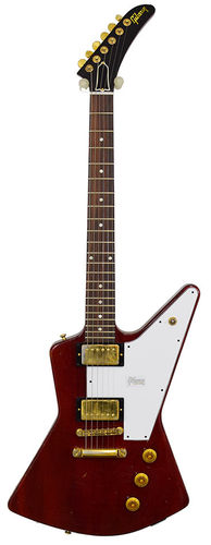 Gibson Explorer 1958 Extra Cut Faded Cherry Aged