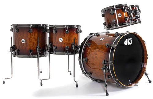 DW Collector's Exotic Quilted Sapele LTD Drum Kit