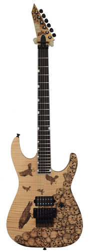 ESP USA M-I DX FR Skulls & Crows Pyrograph LTD